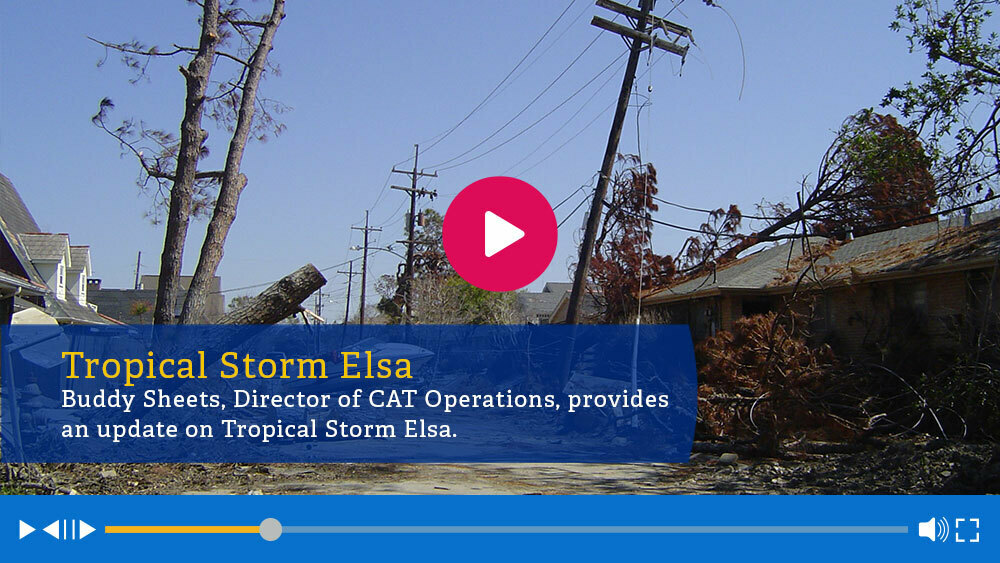 Crawford responds to Tropical Storm Elsa