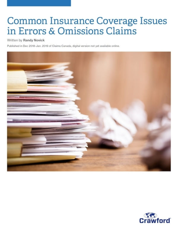 Crawford Canada Resource Coverage Issues In Errors Omissions Claims