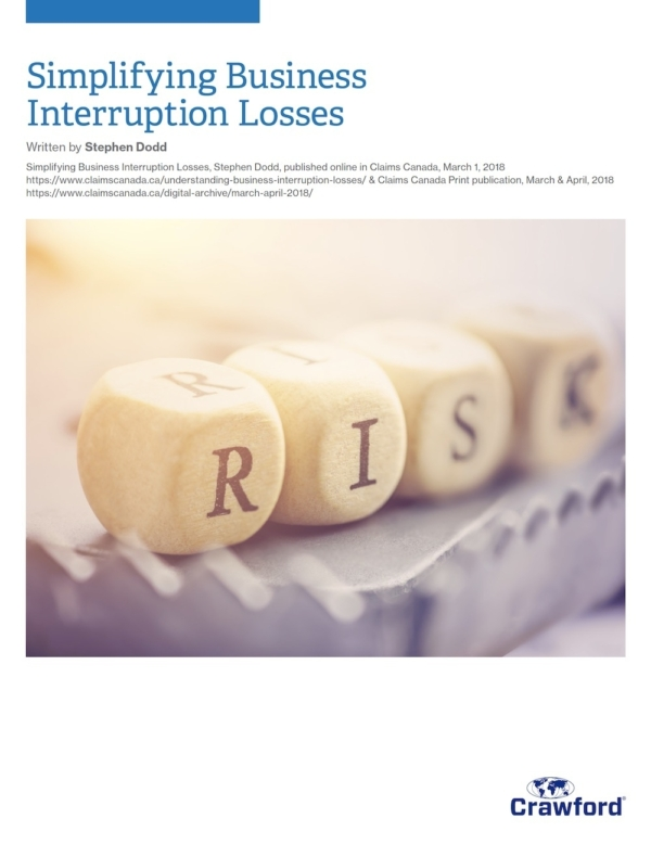 Crawford Canada Resource Simplifying Business Interruption Losses