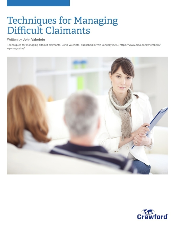 Crawford Canada Techniques For Managing Difficult Claimants