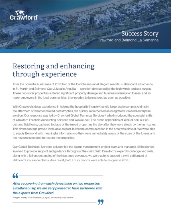 Global Resource Success Story Belmond