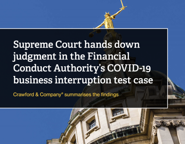 Supreme Court hands down judgment in covid-19 business interruption test case