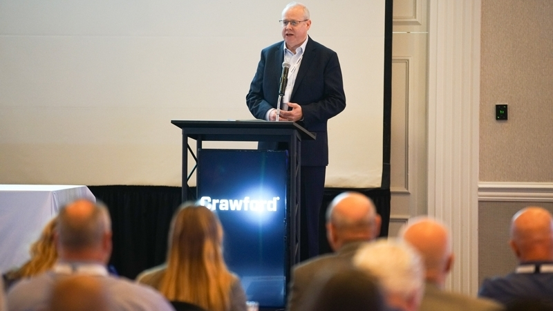Kieran Rigby, global president of Crawford Claims Solutions, discussed opportunities that exist in a global company like Crawford