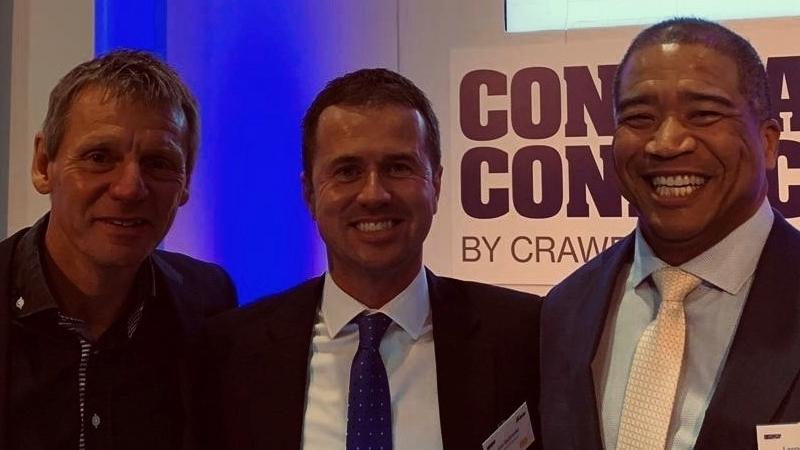 Stuart Pearce, footballer, pictured with Lee Sadowski and Larry Thomas