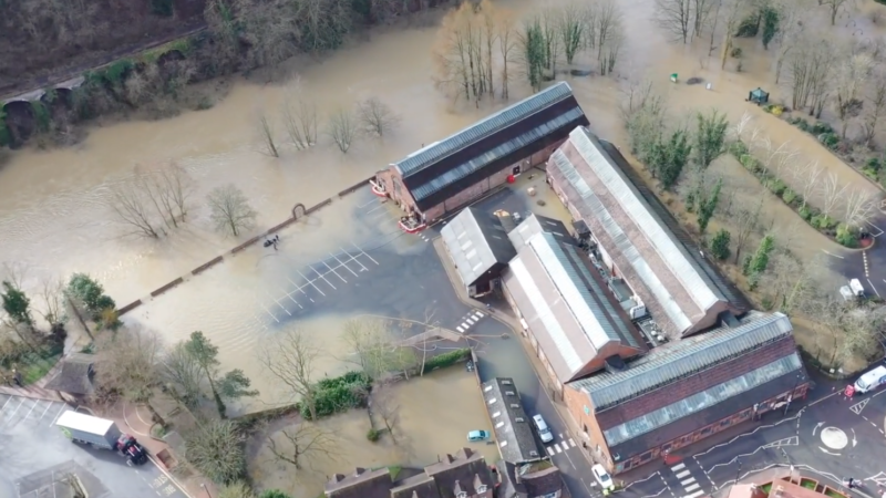 Crawford drone footage showing the aftermath caused by Storms Ciara and Dennis