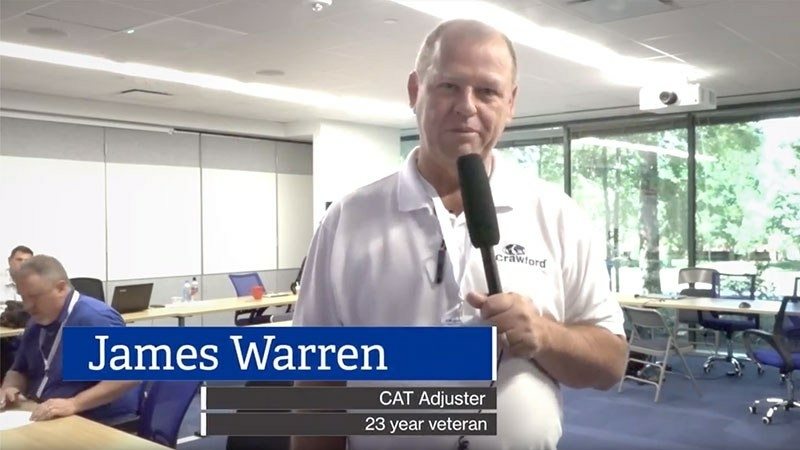 Catastrophe Adjuster James Warren works hard to restore claimants' lives following a loss.