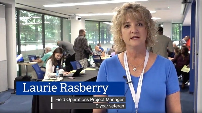 Field Operations Manager Laurie Rasberry loves that her job allows her to help people.