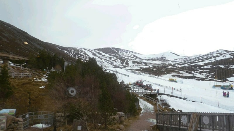 Breath-taking view of the Cairngorm mountains