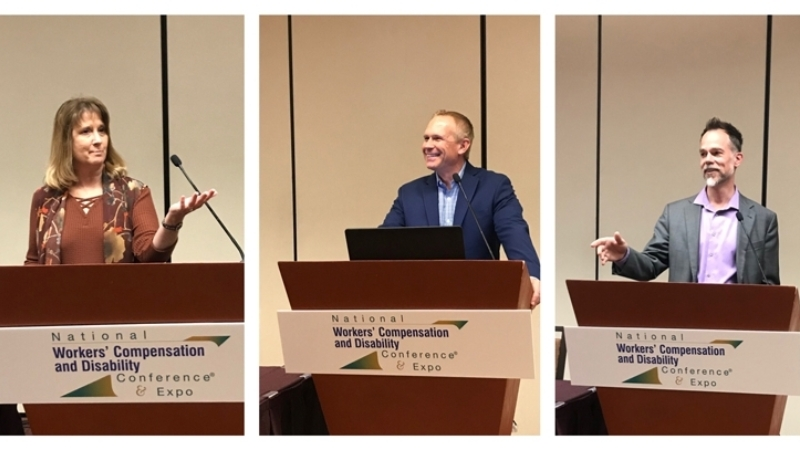 Three of Broadspire's experts took the stage at NWCDC 2019