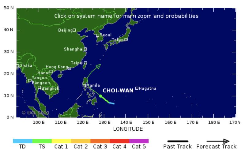 Crawco ap typhoon choi wan weather mappinng