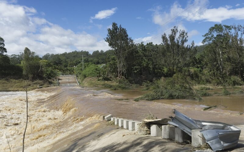 Cyclone Debbie winds impact local infrastructure and roads