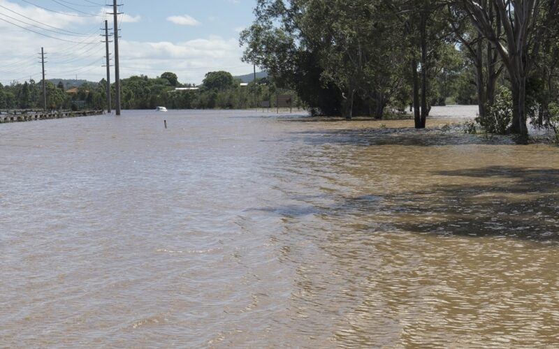 Cyclone Debbie floods local roads as the storm makes landfall