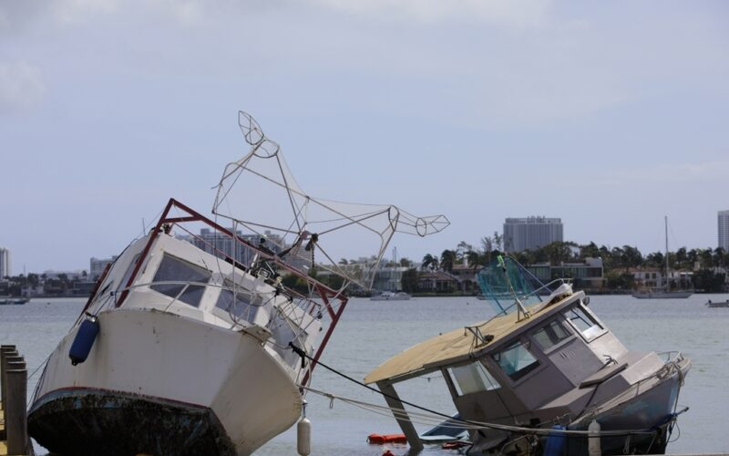 Hurricane Irma winds cripple local boats as the storm surges in Florida