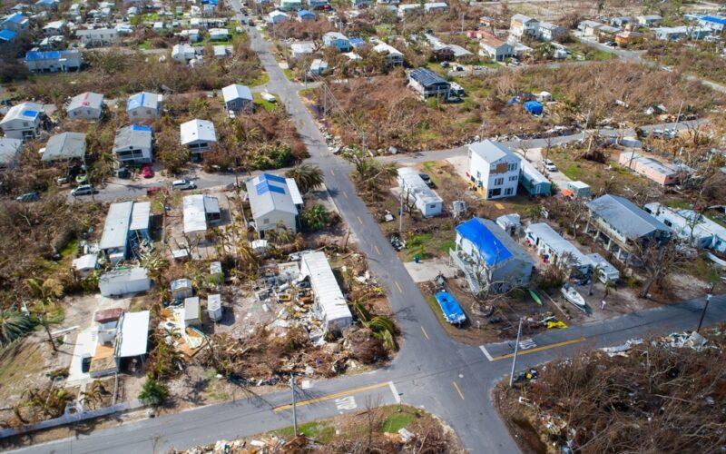 Hurricane Irma damages neighborhoods as residents seek shelter