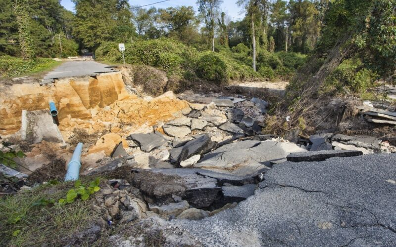 Hurricane Matthew causes infrastructure damage across local roads
